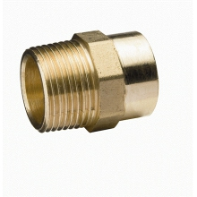 Flow Solder Ring MI Straight Connector 22mm x 3/4""