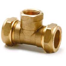 Flowflex Compression Copper Tee 15 x 15 x 1/2""
