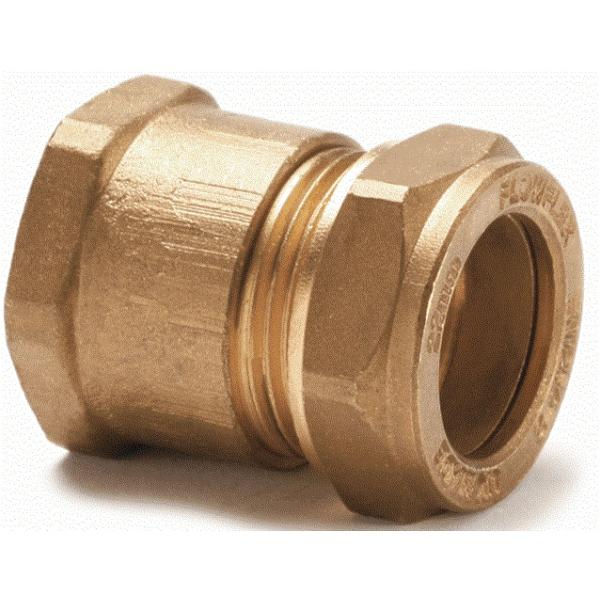 Flowflex Compression Straight Adaptor Copper X Female Iron 15 x 3/4""