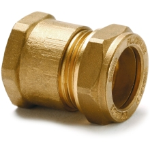 Flowflex Dzr Compression Copper X Female Iron Straight Adaptor 15 x 1/2""
