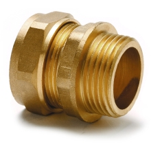 Flowflex Dzr Compression Copper X Male Iron Straight Adaptor 15 x 1/2""