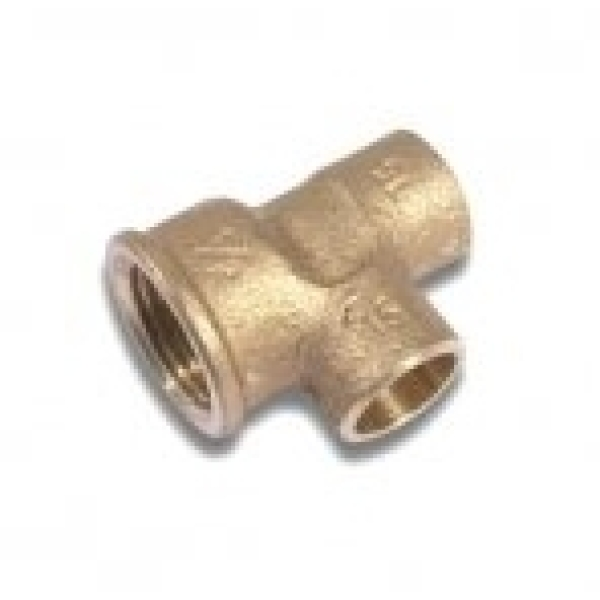 "Flowflex Endfeed Female Iron End Tee 22 x 1/2"" x 22"