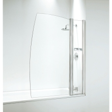 Frameless Sail Screen 1050mm Plain Glass Chrome