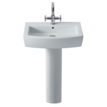 Roca Hall Full Pedestal White