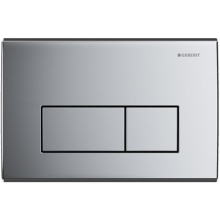Geberit flush plate Kappa50 for dual flush: gloss chrome-plated