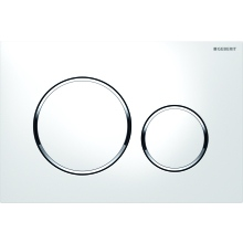 Geberit Flushplate Sigma20 for Dual Flush: White, Bright Chrome-Plated