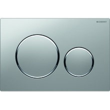 Geberit Flushplate Sigma20 for Dual Flush: Matte Chrome-Plated