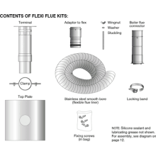 Grant Flexible Flue Kit 100mm x 8M 12-46kW