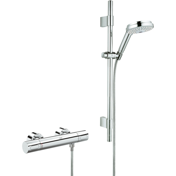 Grohe Grohetherm 3000 Cosmopolitan Exposed Thermostatic Mixer Shower - Chrome