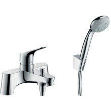 Hangrohe Focus 2 Hole Deck Mounted Bath Shower Mixer