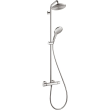 Hansgrohe Raindance S 240 1Jet Showerpipe with Thermostatic Mixer Shower - Chrome