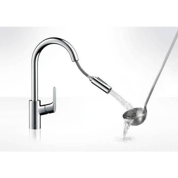 Hansgrohe Single Lever Kitchen Mixer 240 with Pull-Out Spray