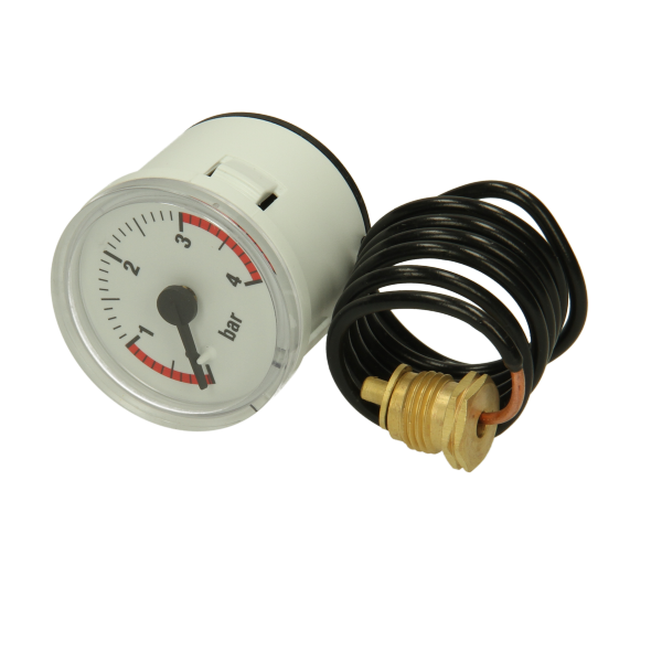 Heatline Pressure Gauge (White)