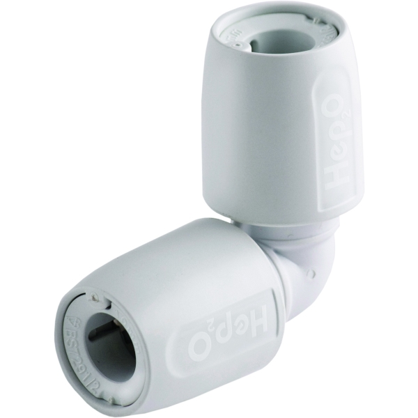 HEP2O 15mm Elbow 90 Degree Connector White