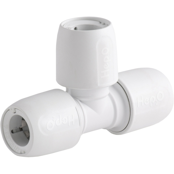 HEP2O 15mm Equal Tee Connector White