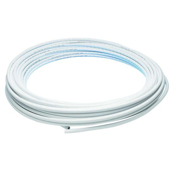 Hep2O Barrier Pipe Coil 15mm White - 25m
