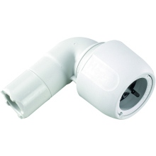 Hep2O Spigot Elbow 90° 22mm White