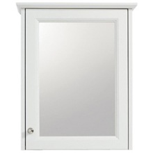 Heritage Caversham 1 Door Mirror Wall Cabinet White Ash