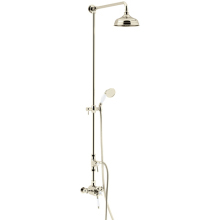 Heritage Dawlish Exposed Shower with Premium Fixed Riser Kit & Diverter to Handset Vintage Gold