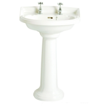 Heritage Dorchester Medium Basin White 3 Taphole