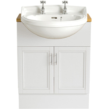 Heritage Dorchester Semi-Recessed Medium Basin 2 Tap Hole