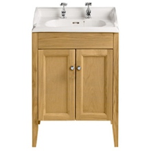 Heritage Dorchester Square Furniture Basin 2 Tap Hole