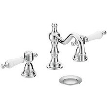 Heritage Glastonbury 3 Taphole Swivel Spout Basin Mixer