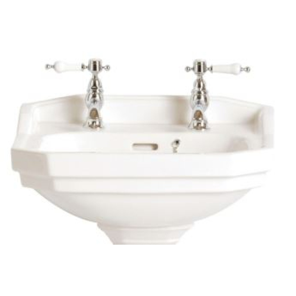 Heritage Granley 1 Tap Hole Cloakroom Basin - White