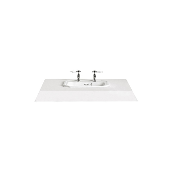 Heritage Granley Tap Ledge Inset Basin 2 Tap Hole
