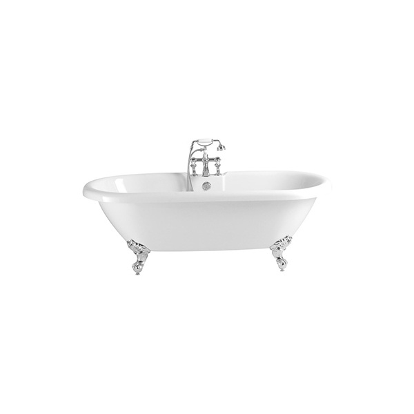 Heritage Oban Double Ended Freestanding Acrylic Bath 2 Tap Hole