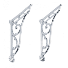 Heritage Ornate Basin Brackets Chrome