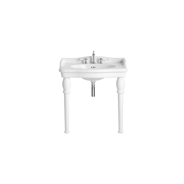 Heritage Victoria 3 Tap Hole Single Bowl Console Basin