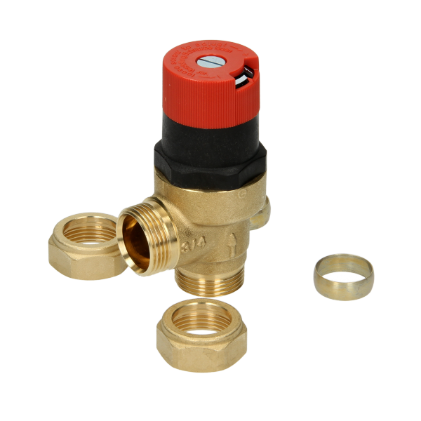 Honeywell DU145 Automatic By-Pass Valve 22mm - Angled
