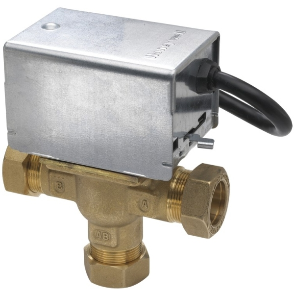 Honeywell V4073A Midposition Diverter Valve 22mm
