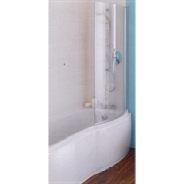 Curved Shower Screens Over Bath ideal standard alto curved bath shower screen 800mm clear glass chrome