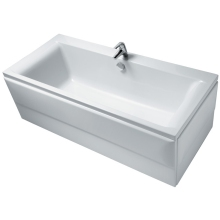 Ideal Standard Concept 170x75cm Double Ended Rectangular Bath Complete With Ideal Waste System Two Tapholes