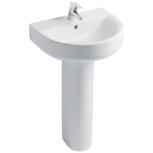 Ideal Standard Concept Arc 55cm Basin to be used with a Pedestal or Furniture
