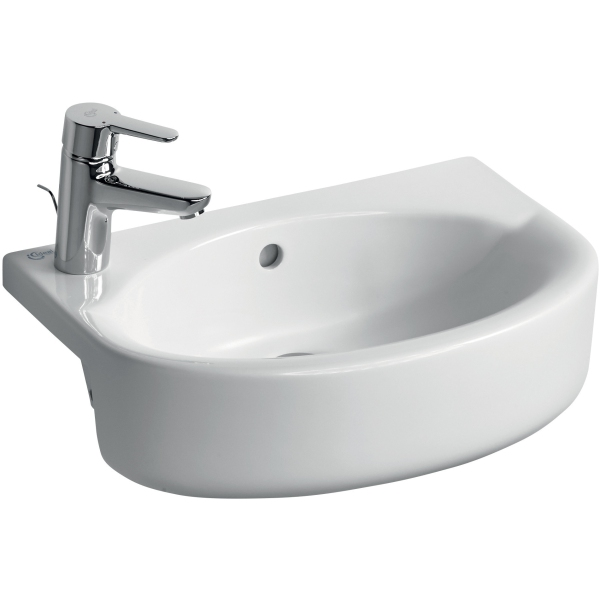 Ideal Standard Concept Space Arc Short Projection Semi-Countertop Basin Left Handed