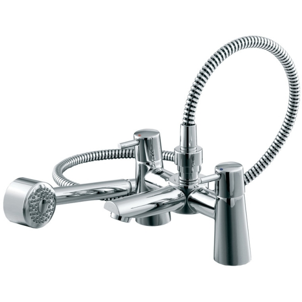 Ideal Standard Cone Dual Control Two Taphole Bath Shower Mixer Complete Shower Kit