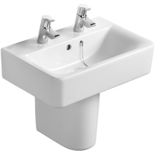 Ideal Standard Cube 55cm Short Projection Pedestal Basin