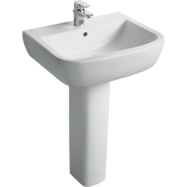 Ideal Standard Tempo 1 Tap Hole Basin 55cm x 45cm - White