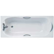 Ideal Standards Alto 170x70cm Rectangular Bath With Chrome Plated Grips Two Tapholes