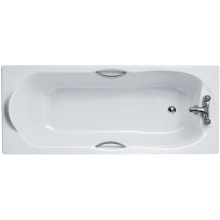 Ideal Standards Alto Water Saving 170x70cm Rectangular Bath With Chrome Plated Grips Two Tapholes
