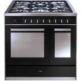 RV921SS 90cm twin cavity dual fuel range cooker