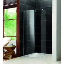 Impey Aqua-Screen Pure Curved Wetroom Screen Front Panel 880mm - Plain