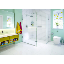 Impey Aqua-Screen X 1000mm Walk Through Glass Panel Screen - Plain