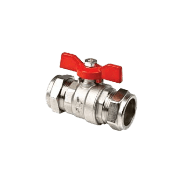Inta Butterfly Handle Ball Valve 15mm Red