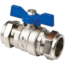Inta Butterfly Handle Ball Valve 22mm Blue