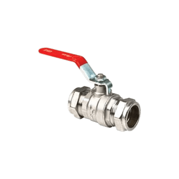 Inta Lever Handle Ball Valve 15mm Red