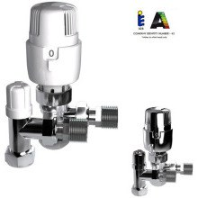 Intatec I-Therm 15mm Angled TRV with Lockshield